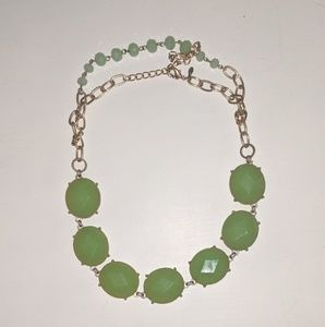 Lime green pendant necklace